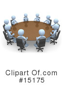 Royalty-Free (RF) Meeting Clipart Illustration #15175
