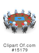 Royalty-Free (RF) Meeting Clipart Illustration #15179