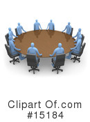 Royalty-Free (RF) Meeting Clipart Illustration #15184