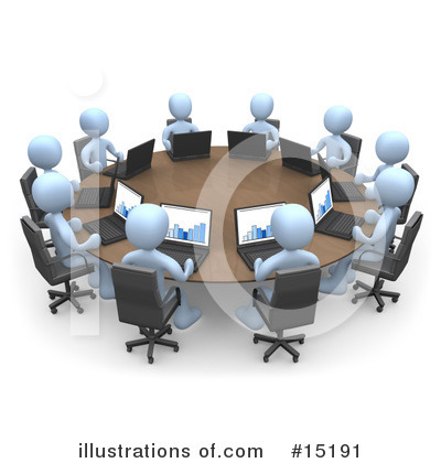 Royalty-Free (RF) Meeting Clipart Illustration by 3poD - Stock Sample #15191