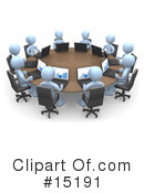 Royalty-Free (RF) Meeting Clipart Illustration #15191