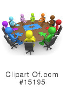 Royalty-Free (RF) Meeting Clipart Illustration #15195