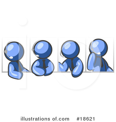 Royalty-Free (RF) Meeting Clipart Illustration by Leo Blanchette - Stock Sample #18621