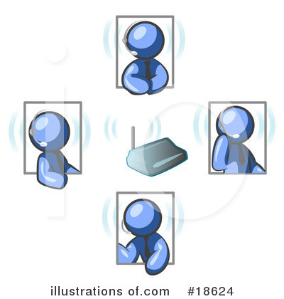 Royalty-Free (RF) Meeting Clipart Illustration by Leo Blanchette - Stock Sample #18624