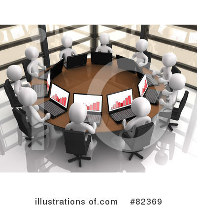 Royalty-Free (RF) Meeting Clipart Illustration by 3poD - Stock Sample #82369