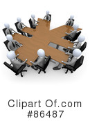 Royalty-Free (RF) meeting Clipart Illustration #86487
