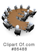 Royalty-Free (RF) Meeting Clipart Illustration #86488