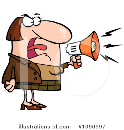 Royalty-Free (RF) Megaphone Clipart Illustration by Hit Toon - Stock Sample #1090997