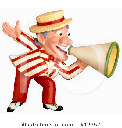 Royalty-Free (RF) Megaphone Clipart Illustration by Amy Vangsgard - Stock Sample #12357