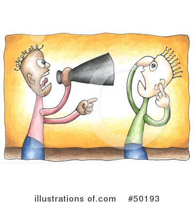 Royalty-Free (RF) Megaphone Clipart Illustration by C Charley-Franzwa - Stock Sample #50193