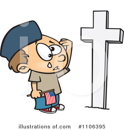 Royalty-Free (RF) Memorial Day Clipart Illustration by toonaday - Stock Sample #1106395