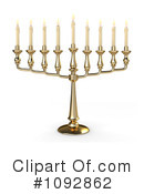 Royalty-Free (RF) Menorah Clipart Illustration #1092862