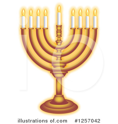 Royalty-Free (RF) Menorah Clipart Illustration by Prawny - Stock Sample #1257042