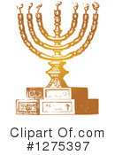 Royalty-Free (RF) Menorah Clipart Illustration #1275397