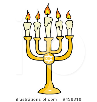 Menorah Clipart #436810 by Hit Toon