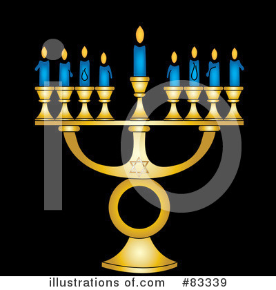 Menorah Clipart #83339 by Pams Clipart