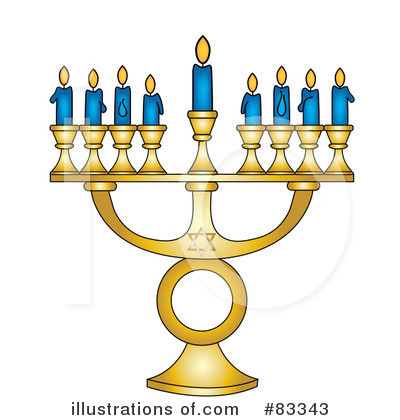 Royalty-Free (RF) Menorah Clipart Illustration by Pams Clipart - Stock Sample #83343