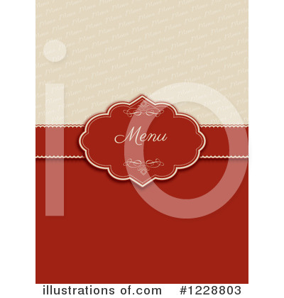 Royalty-Free (RF) Menu Clipart Illustration by KJ Pargeter - Stock Sample #1228803