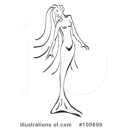 Mermaid Silhouette Stock Images Royalty Source · Mermaid Clipart 100699  Illustration By MilsiArt