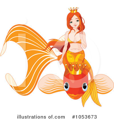 Mermaid Clipart #1053673 by Pushkin