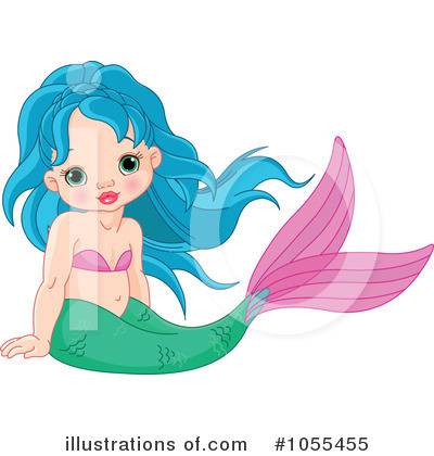 Mermaid Clipart #1055455 by Pushkin