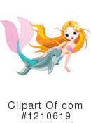 Royalty-Free (RF) Mermaid Clipart Illustration #1210619