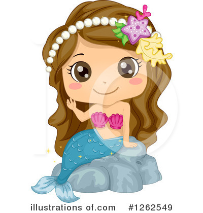 Royalty-Free (RF) Mermaid Clipart Illustration by BNP Design Studio - Stock Sample #1262549