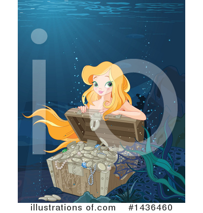 Mermaid Clipart #1436460 by Pushkin