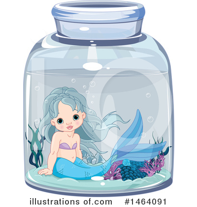 Mermaid Clipart #1464091 by Pushkin