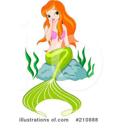 Mermaid Clipart #210888 by Pushkin