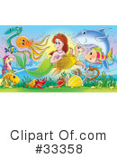 Royalty-Free (RF) Mermaid Clipart Illustration #33358