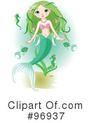 Royalty-Free (RF) mermaid Clipart Illustration #96937