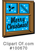 Royalty-Free (RF) Merry Christmas Clipart Illustration #100670
