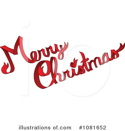 Royalty-Free (RF) Merry Christmas Clipart Illustration by visekart - Stock Sample #1081652