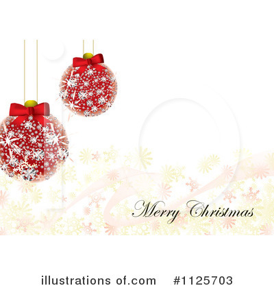 Royalty-Free (RF) Merry Christmas Clipart Illustration by michaeltravers - Stock Sample #1125703