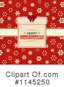 Royalty-Free (RF) Merry Christmas Clipart Illustration #1145250