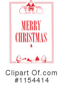 Royalty-Free (RF) Merry Christmas Clipart Illustration #1154414
