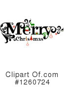 Royalty-Free (RF) Merry Christmas Clipart Illustration #1260724