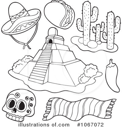 Mexican clipart 1067072 illustration by visekart for Coloring pages of mexico