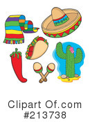 Royalty-Free (RF) Mexican Clipart Illustration #213738