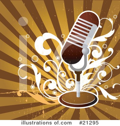 Royalty-Free (RF) Microphone Clipart Illustration by OnFocusMedia - Stock Sample #21295