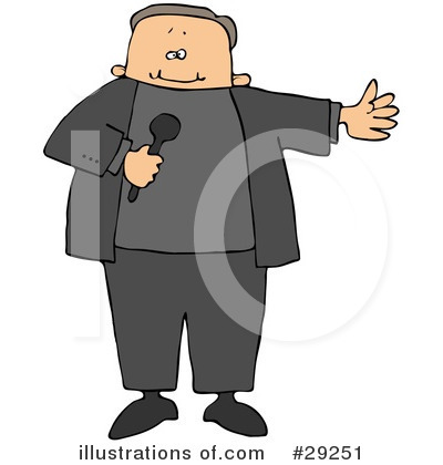 Royalty-Free (RF) Microphone Clipart Illustration by djart - Stock Sample #29251