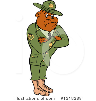 Drill Sergeant Clipart #1318389 by LaffToon