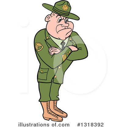 Drill Sergeant Clipart #1318392 by LaffToon