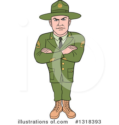 Drill Sergeant Clipart #1318393 by LaffToon