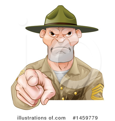 Drill Sergeant Clipart #1459779 by AtStockIllustration