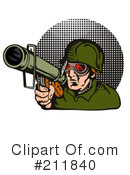 Royalty-Free (RF) Military Clipart Illustration #211840