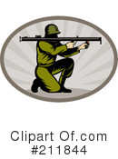 Royalty-Free (RF) Military Clipart Illustration #211844
