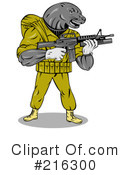 Royalty-Free (RF) Military Clipart Illustration #216300