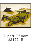 Royalty-Free (RF) Military Clipart Illustration #216515